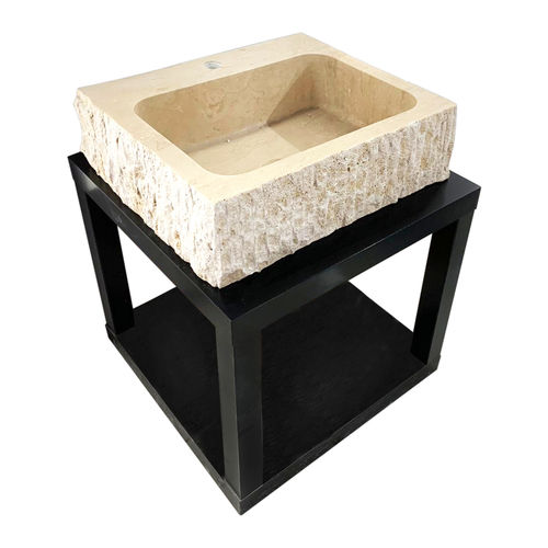 Travertine Stone Sink - Square