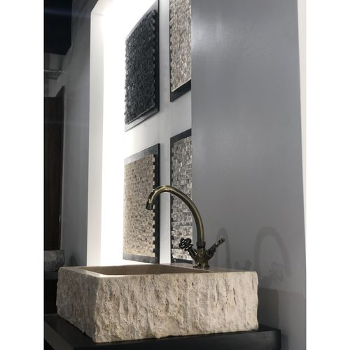 Travertine Stone Sink - Square