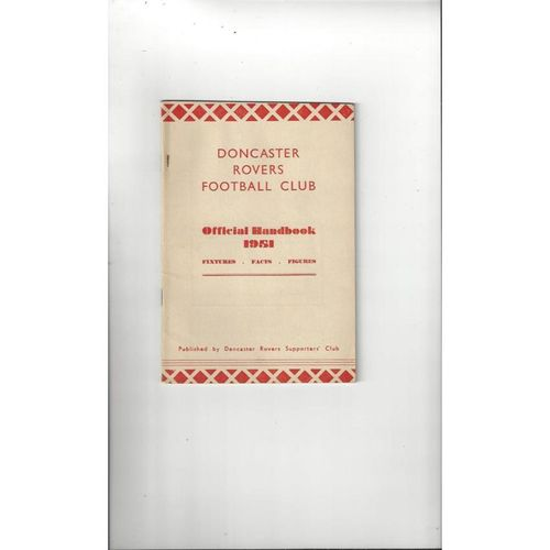 Doncaster Rovers Official Football Handbook 1951