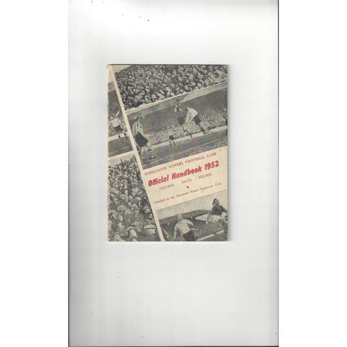 Doncaster Rovers Official Football Handbook 1952