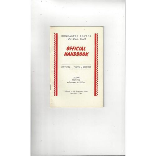 Doncaster Rovers Official Football Handbook 1961/62