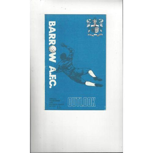 1969/70 Barrow v Reading Football Programme