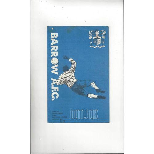 1971/72 Barrow v Newport County Football Programme