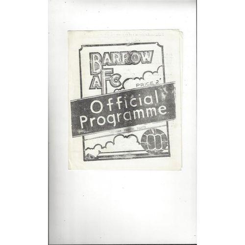 1972/73 Barrow v Mossley Football Programme