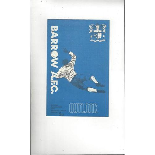 1972/73 Barrow v Netherfield Football Programme