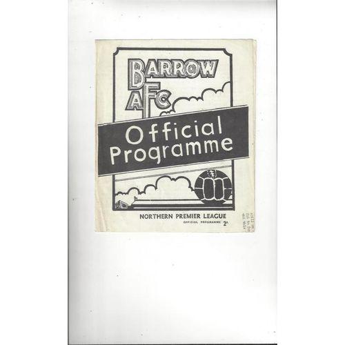 1972/73 Barrow v Stafford Rangers Football Programme
