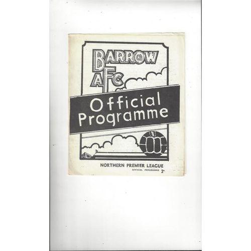 1972/73 Barrow v Scarborough Football Programme