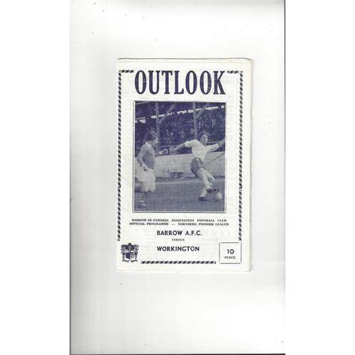 1977/78 Barrow v Workington Football Programme