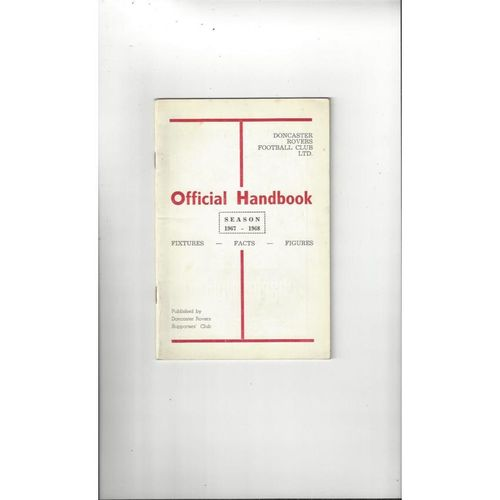 Doncaster Rovers Official Football Handbook 1967/68