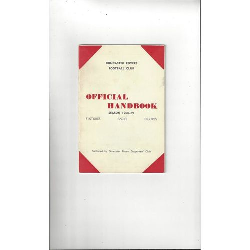 Doncaster Rovers Official Football Handbook 1968/69