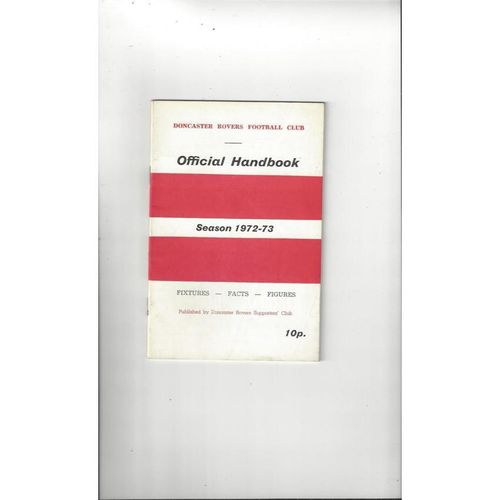 Doncaster Rovers Official Football Handbook 1972/73