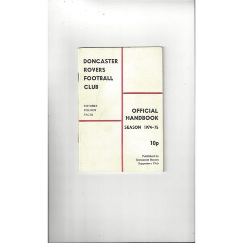Doncaster Rovers Official Football Handbook 1974/75