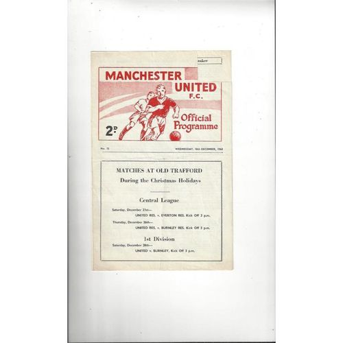 Manchester United v Barrow FA Youth Cup Football Programme 1963/64