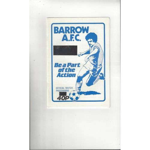 1986/87 Barrow v Macclesfield Town Football Programme