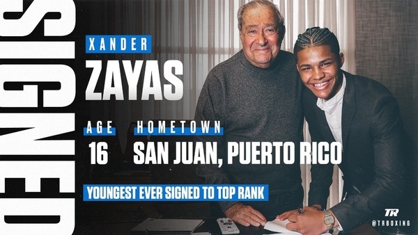 Top Rank Signs 16-Year-Old Amateur Superstar Xander Zayas