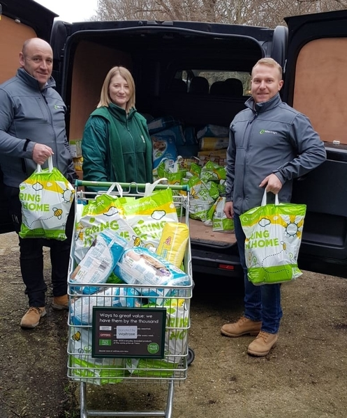 Miller Knight delivers food donations to Canterbury Food Bank