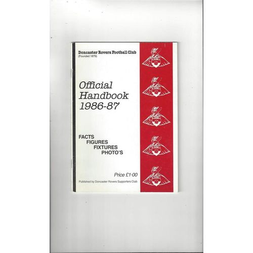 Doncaster Rovers Official Football Handbook 1986/87