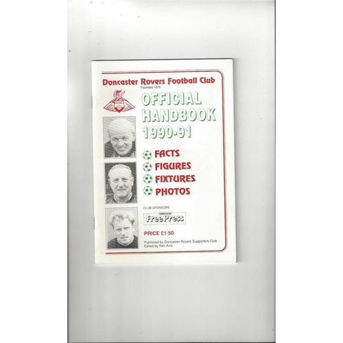 Doncaster Rovers Official Football Handbook 1990/91