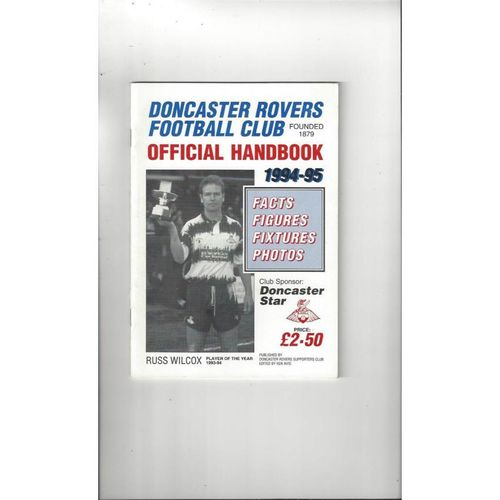 Doncaster Rovers Official Football Handbook 1994/95