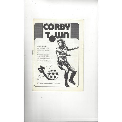 Corby Town v Coventry Sporting FA Youth Cup Football Programme 1976/77