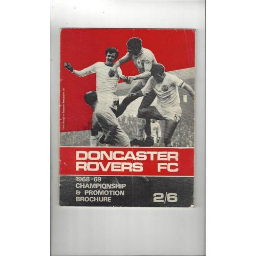 Doncaster Rovers Championship & Promotion Brochure Football Handbook 1968/69