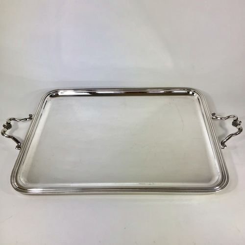 Large Christofle silver plated drinks serving tray