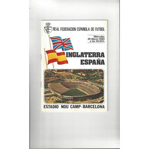 1980 Spain v England Football Programme
