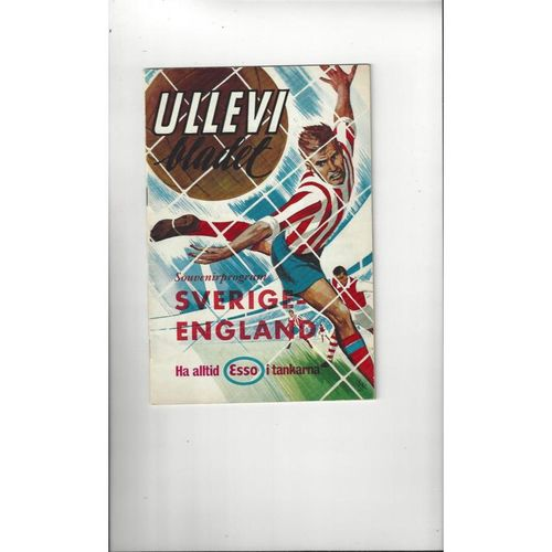 1965 Sweden v England Football Programme