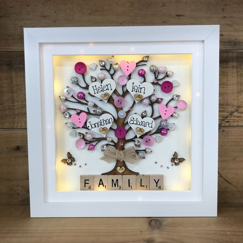 "383faf1aebe9 "" hearts   buttons "" family tree frame. """