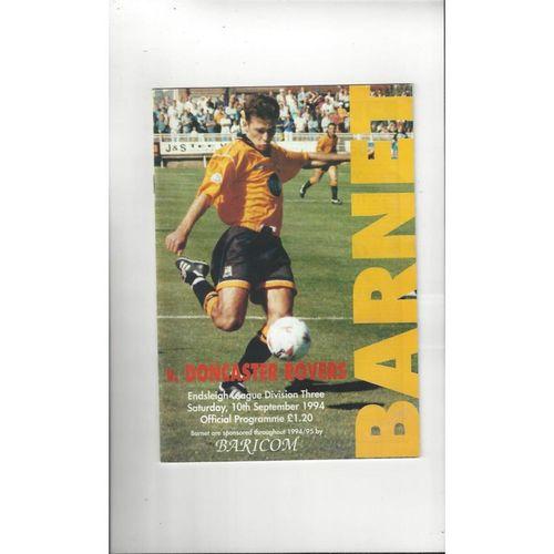1994/95 Barnet v Doncaster Rovers Football Programme