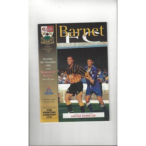 1995/96 Barnet v Doncaster Rovers Football Programme
