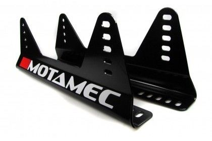 Motamec Racing GT01 Race Seat Fiberglass Shell Side Mount BLACK - NON FIA