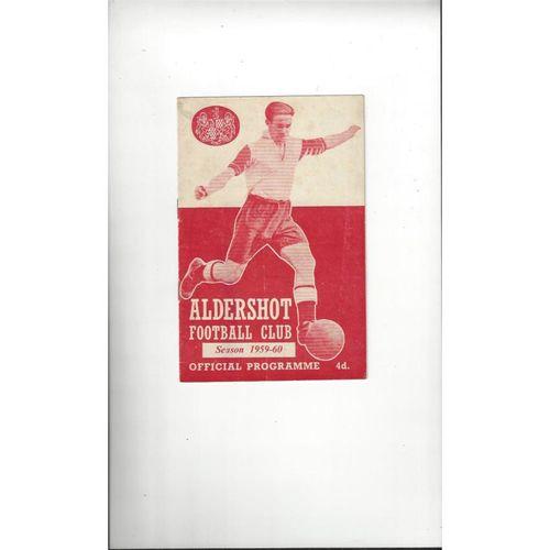 1959/60 Aldershot v Doncaster Rovers Football Programme