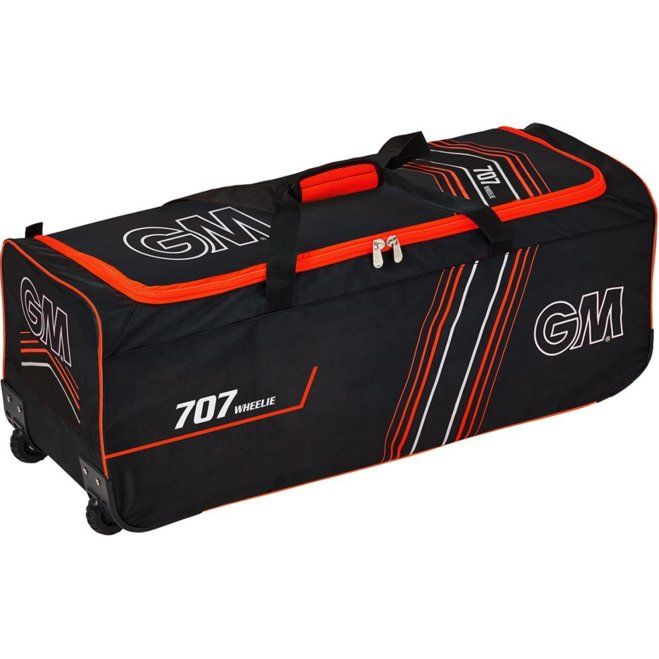 GM 707 Wheelie Bag Black and Red