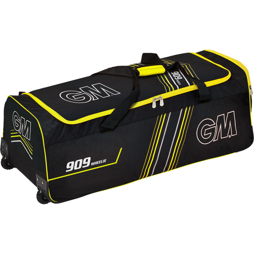 Gunn & Moore 909 GM 909 Wheelie Cricket Kitbag Black - Yellow
