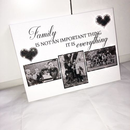 Glitter Canvas Photo and Quote