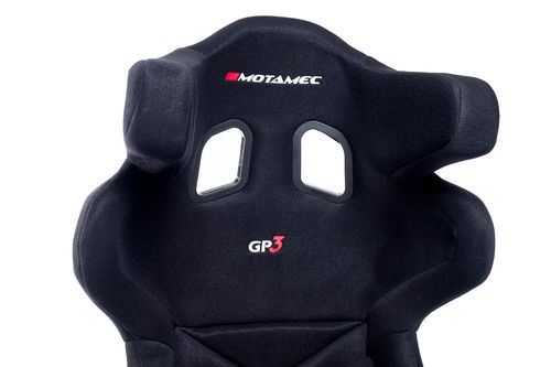 Motamec Racing GP3 FIA Approved Race Seat GRP Shell Side Mount BLACK HANS