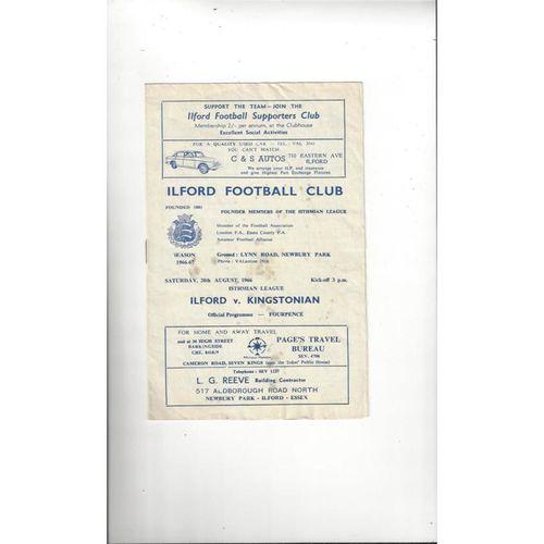 1966/67 Ilford v Kingstonian Football Programme