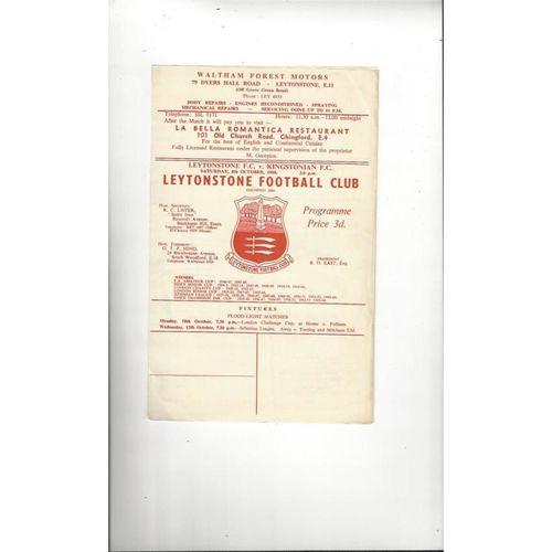 1966/67 Leytonstone v Kingstonian Football Programme