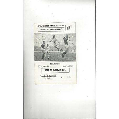 Ayr United Football Programmes