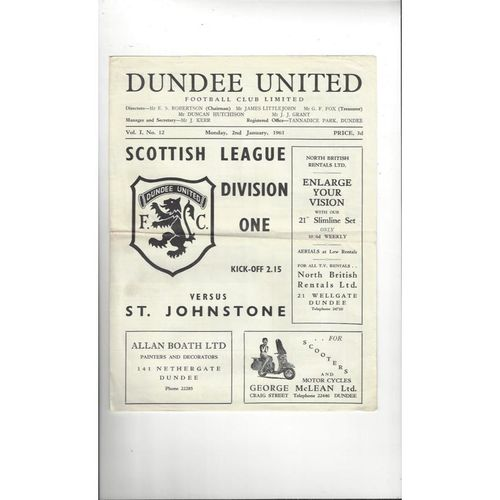 Dundee United Football Programmes