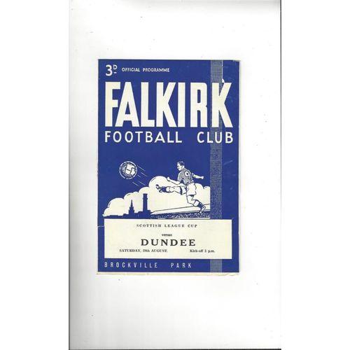 1964/65 Falkirk v Dundee League Cup Football Programme