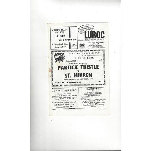 Partick Thistle Football Programmes