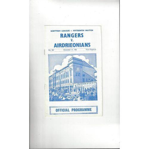 Rangers Football Programmes