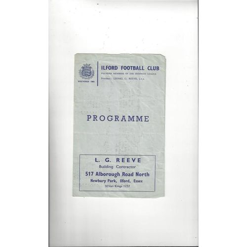 1966/67 Metropolitan Police v Barking East Anglian Cup Replay Football Programme @ Ilford