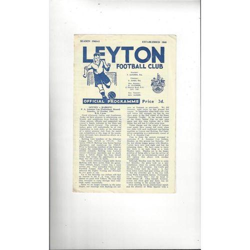 1960/61 Leyton v Barking FA Amateur Cup Football Programme