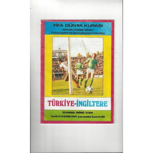 1984 Turkey v England Football Programme