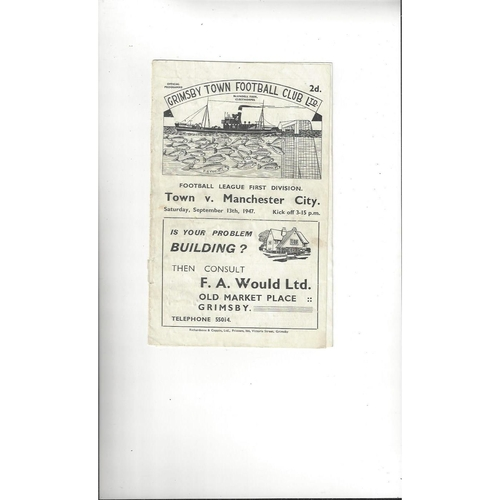 Grimsby Town Home Football Programmes