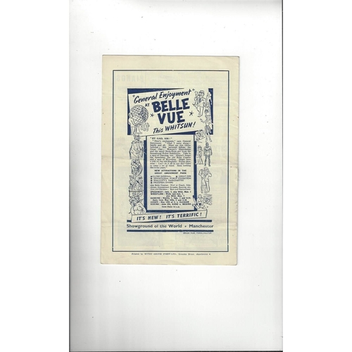 1946/47 Manchester City v West Ham United Football Programme