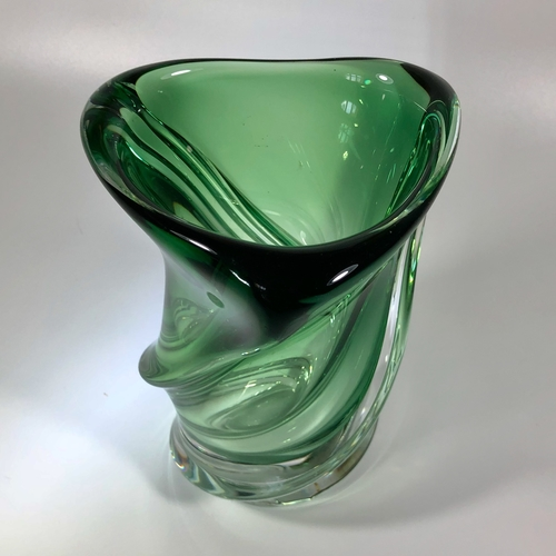 Crystal vase by Guido Bon for Val Saint Lambert